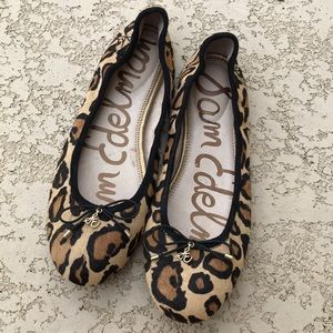 SAM EDELMAN Felicia Leopard Print Ballet Flats 10